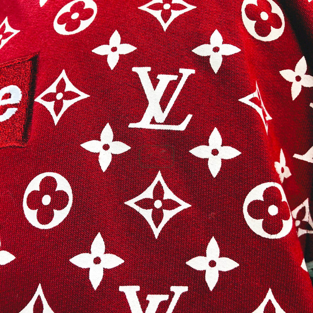 LOUIS VUITTON x SUPREME コラボ 長袖パーカー