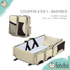Couffin  3 en 1 BagyBed® - Sac - Lit - table à langer bébé