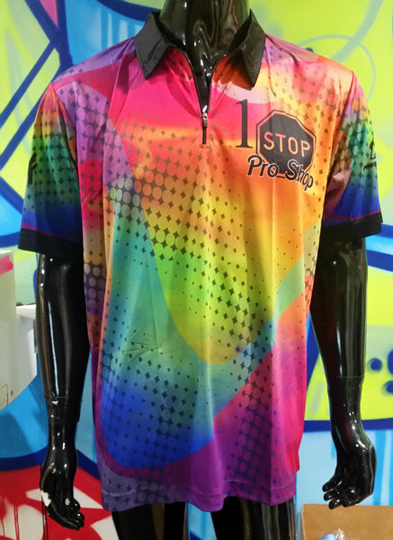1 Stop Pro Shop. Quarter Zip Polo - Custom Full-Dye Jersey