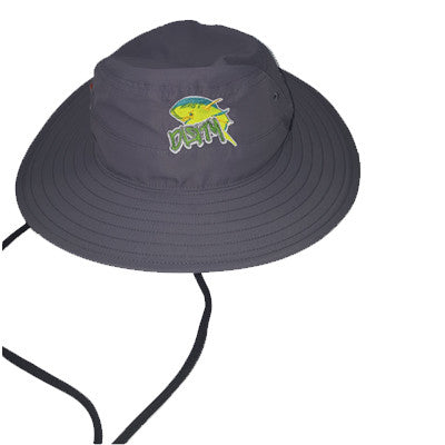 Hat - Graphhite Bucket Hat - Dirty Dolphin Fishing Logo