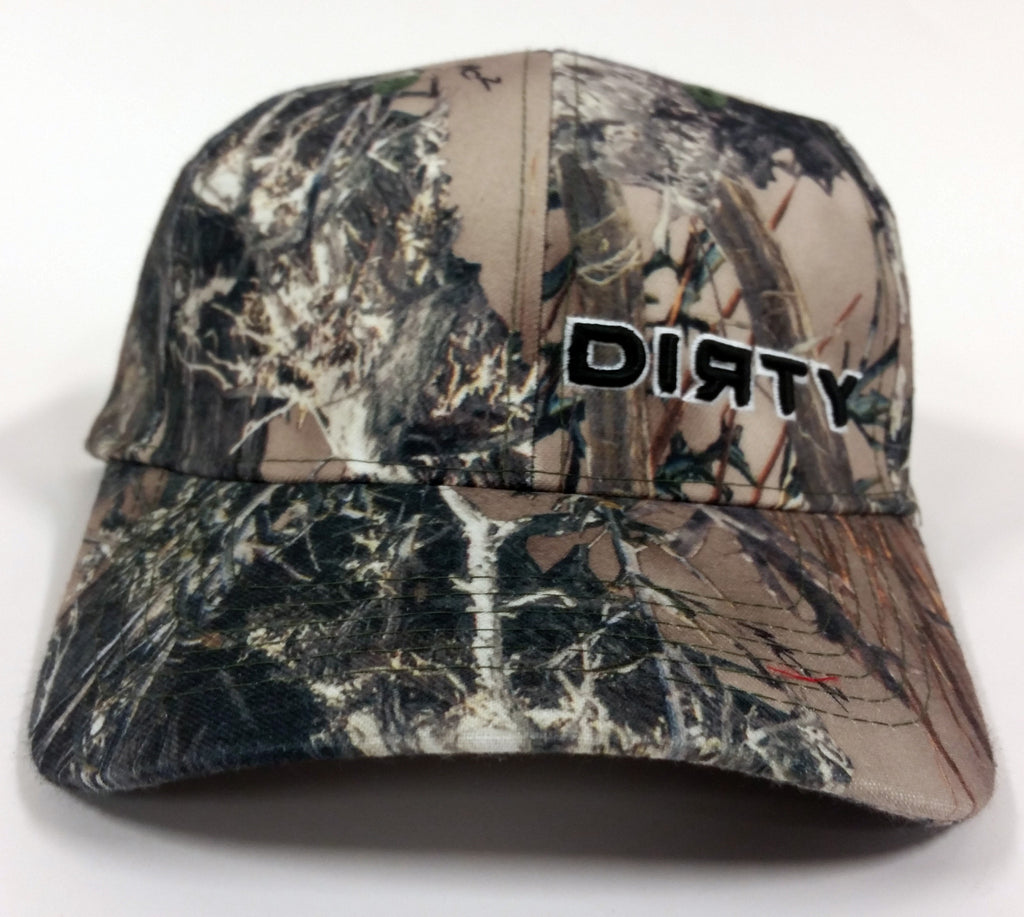 True Timber Camo MC2 Hat - Small Black DIRTY Logo - Velcro Adjustment Strap #122