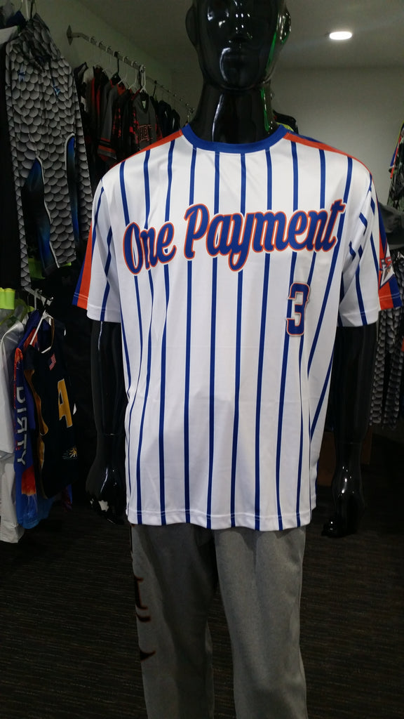 One Payment, White - Custom Full-Dye Jersey and Pants