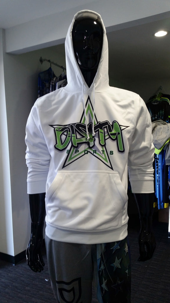 Hoodie: Partially Sublimated - Green Graffiti DIRTY Star logo