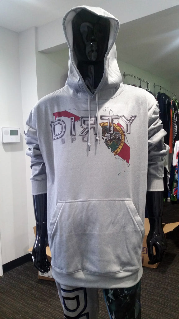 Hoodie: Partially Sublimated - DIRTY Florida logo