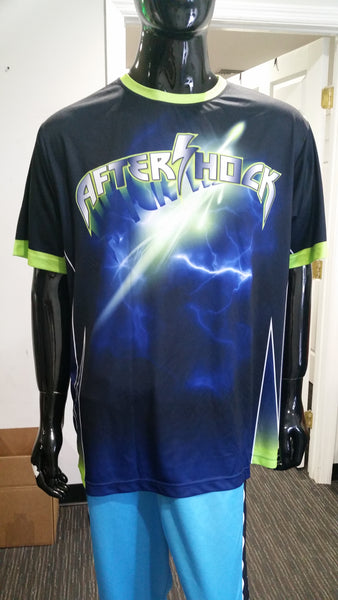 Aftershock, Blue, Red - Custom Full-Dye Jersey