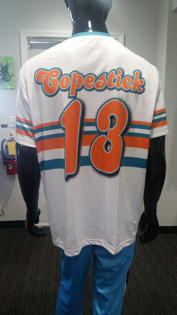 Jim's Tires; Miami Dolphins - Custom Full-Dye Jersey