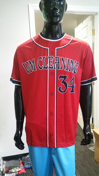 VM Cleaning, Faux Button Up - Custom Full-Dye Jersey