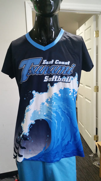 Tsunami Softball, Ladies - Custom Full-Dye Jersey