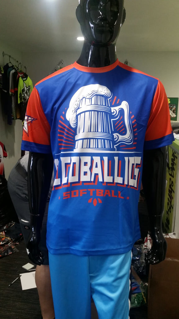 Alcoballics Softball, Blue - Custom Full-Dye Jersey