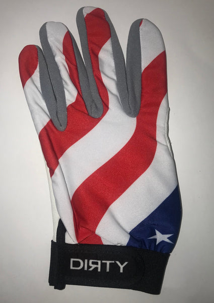Dirty Sports, Batting Gloves - American Flag