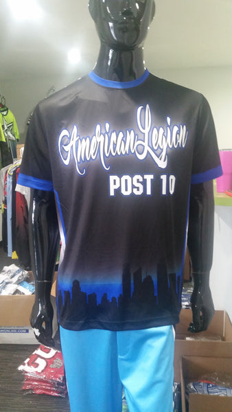 American Legion, Post 10, Thin Blue Line - Custom Full-Dye Jersey