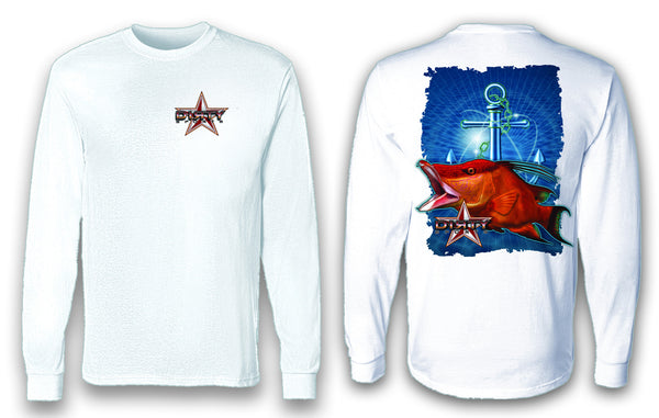 Hog Fish, Anchor Series - Long Sleeve Polyester Fishing Shirt