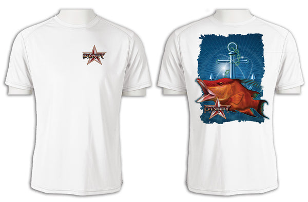Hog Fish, Anchor Series - Short Sleeve Polyester Shirt