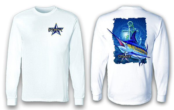 Marlin, Anchor Series - Long Sleeve Polyester Fishing Shirt