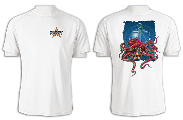Octopus, Anchor Series - Short Sleeve Polyester Shirt
