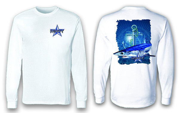 Shark, Anchor Series - Long Sleeve Polyester Fishing Shirt
