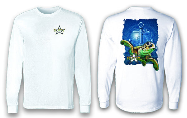 Sea Turtle, Anchor Series - Long Sleeve Polyester Fishing Shirt