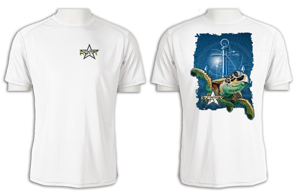 Sea Turtle, Anchor Series - Short Sleeve Polyester Shirt