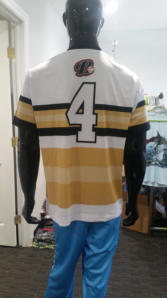 B, Stripes - Custom Full-Dye Jersey