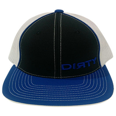 #89 Black, Blue & White Hat - Blue Dirty