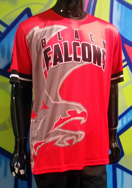 Black Falcons - Custom Full-Dye Jersey