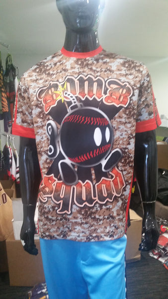 Bomb Squad, Orange Camo - Custom Full-Dye Jersey