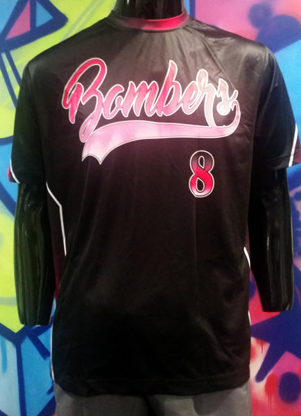 Bombers, Black - Custom Full-Dye Jersey