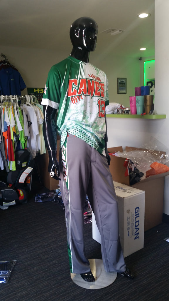 Canes, Green Grunge - Custom Full-Dye Jersey and Pants