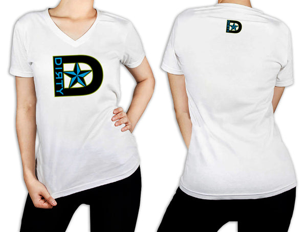 Women's White T-Shirt - D-Star Logo BLUE