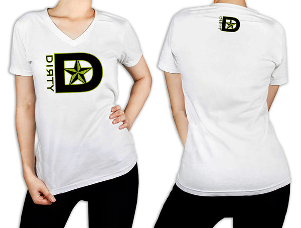 Women's White T-Shirt - D-Star Logo GREEN
