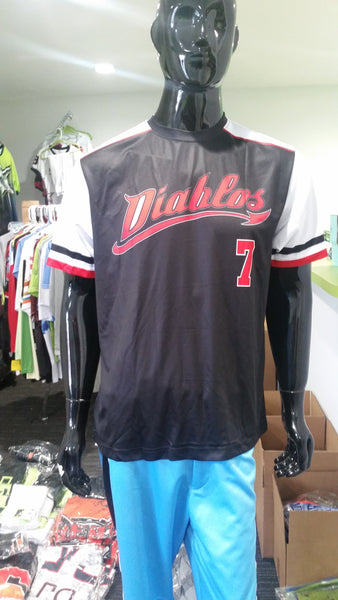 Diablos, Black - Custom Full-Dye Jersey