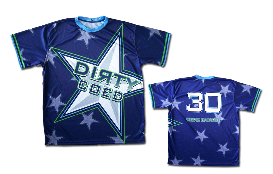 Sample - Custom Dye-Sub Shirt w/ Large Dirty Coed Star