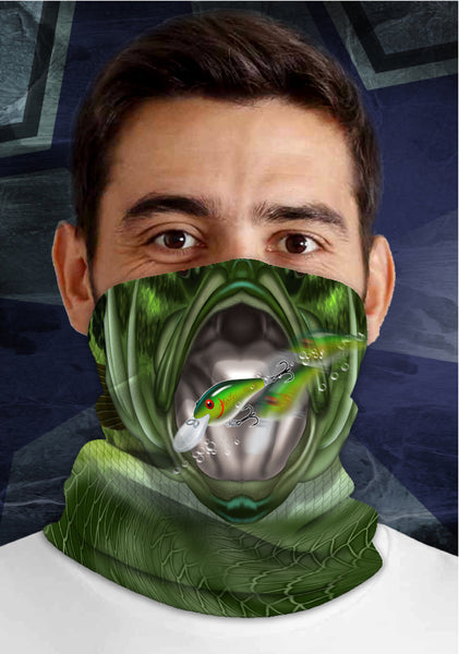 Bass Mouth, Dirty Sports Face Mask Shield