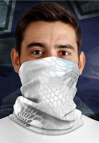 Kryptek WHITE, Dirty Sports Face Mask Shield