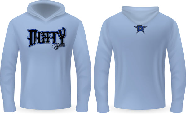 Copy of Dirty Sports, Spiked Text, BLUE - PartialDye Streetwear