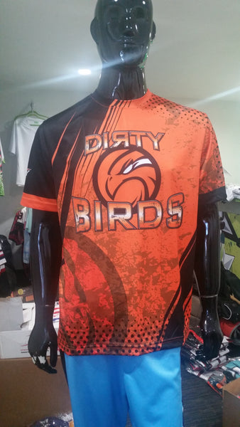 Dirty Birds, Orange Grunge - Custom Full-Dye Jersey