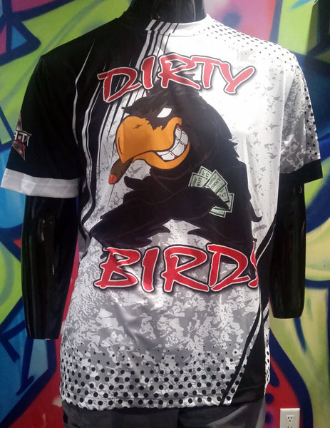 Dirty Birds, White - Custom Full-Dye Jersey