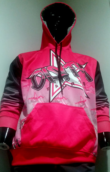 Dirty Sports, Graffiti Star, Neon Pink - Full-Dye, Pull Over Hoodie