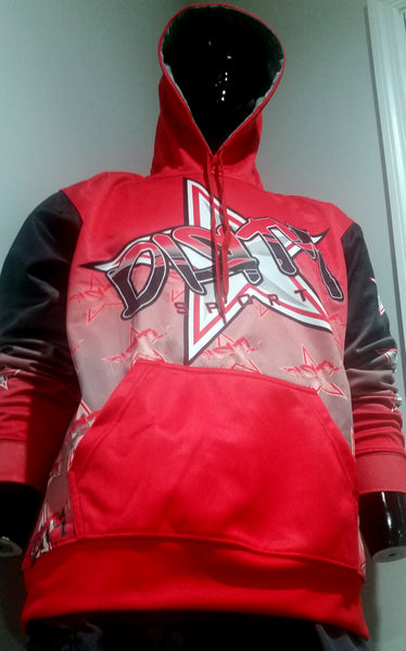 Dirty Sports, Graffiti Star, RED - Full-Dye, Pull Over Hoodie