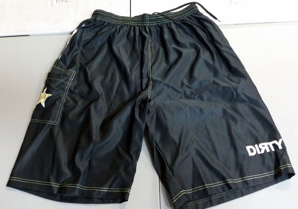 Dirty Sports, Micro Fiber Shorts - Black, Yellow logo