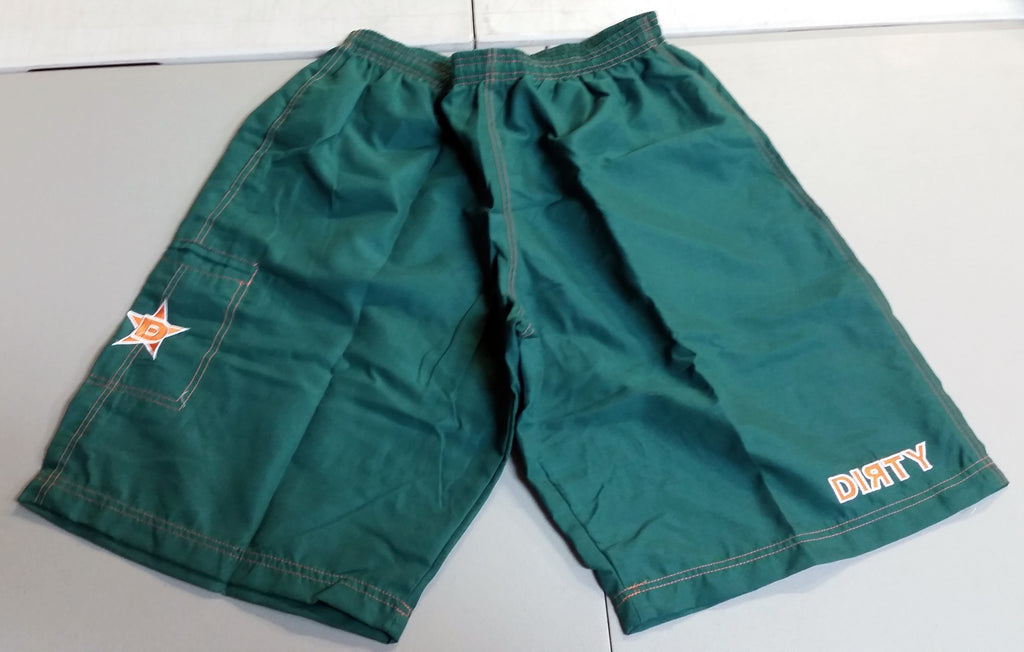 Dirty Sports, Micro Fiber Shorts - Green, Orange