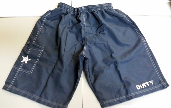 Dirty Sports, Micro Fiber Shorts - Navy Blue, White logo