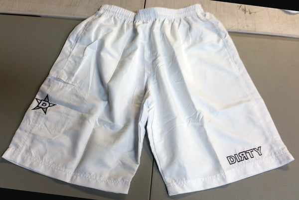 Dirty Sports, Micro Fiber Shorts - White, White logo
