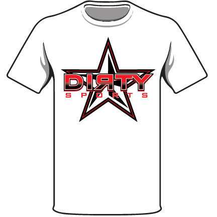 White T-Shirt w/Red Dirty Sports Star