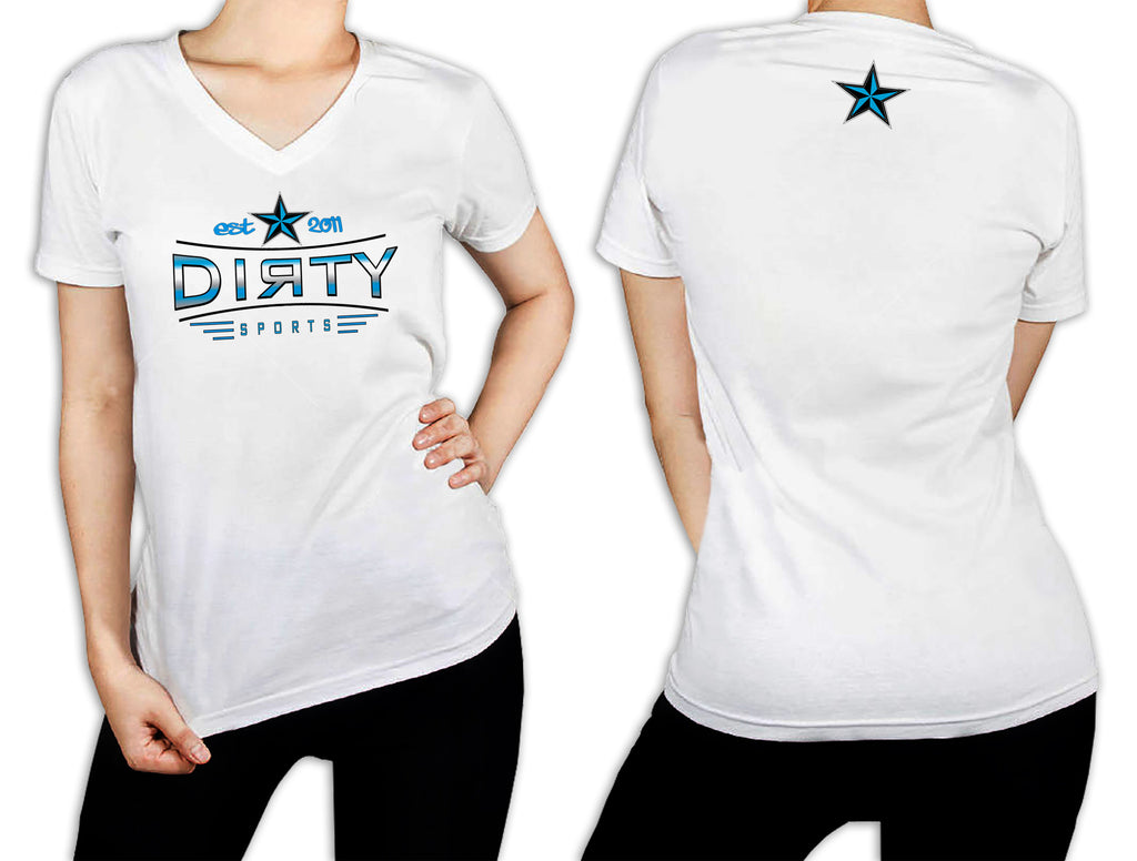 Women's White T-Shirt - Dirty Stretch EST. 2011