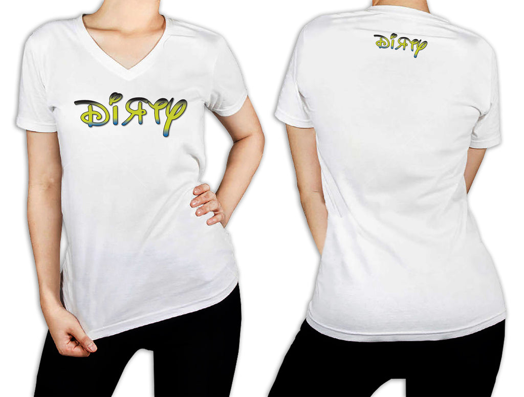 Women's White T-Shirt - Disney Dirty Green