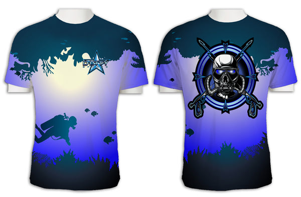 Diving Mask Reef FULL - Short Sleeve Polyester Shirt