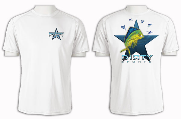 Mean Mahi with Flyers SPOT - Short Sleeve Polyester Shirt