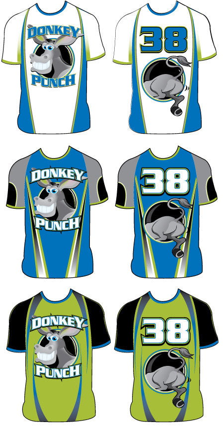 Sample: Custom Dye Sub Uniform - Donkey Punchers