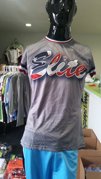 Elite, Ladies, Patriotic Gray - Custom Full-Dye Jersey